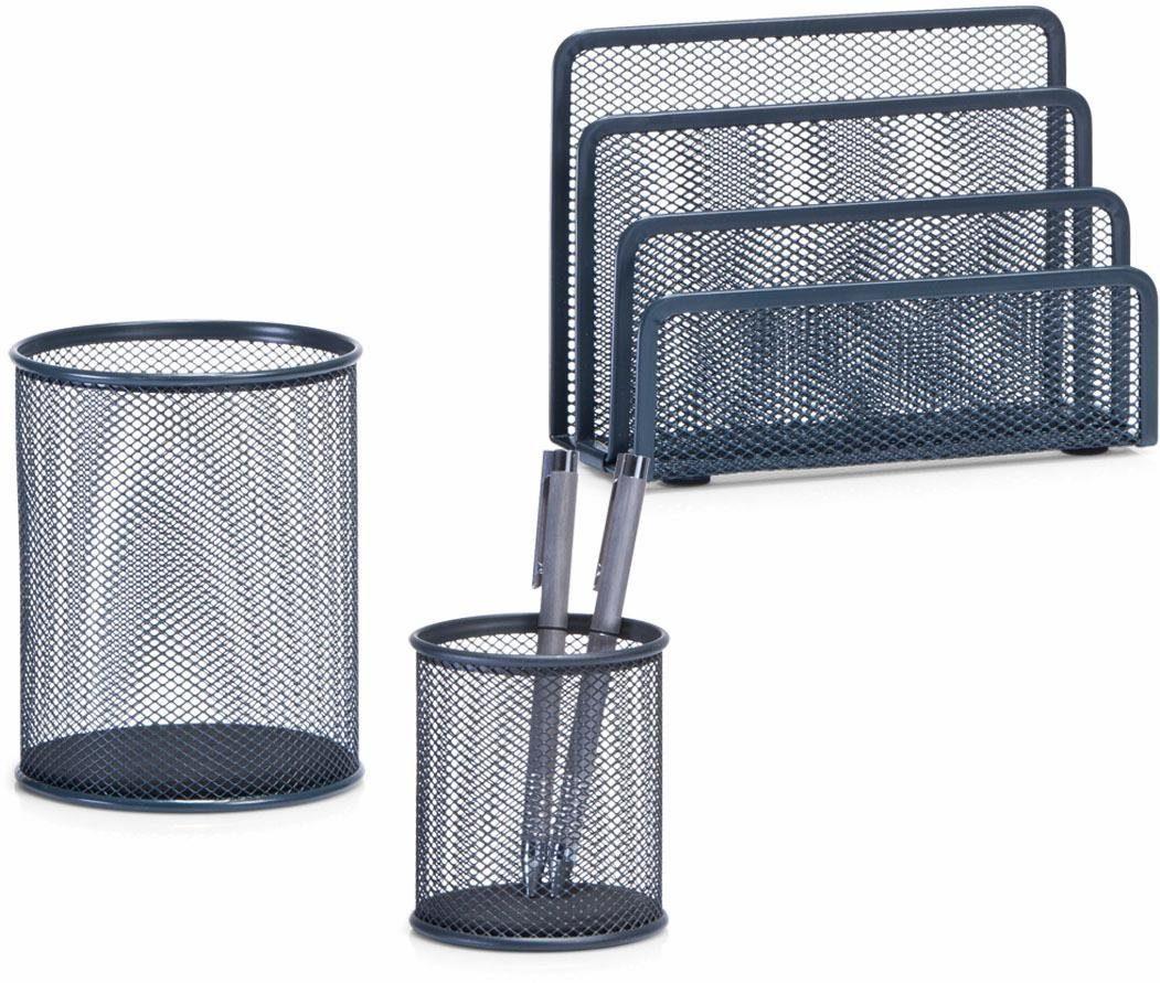 Zeller Büro-Organizer-Set (3-tlg.) Briefbox, Bleistiftbecher, Utensilienbecher