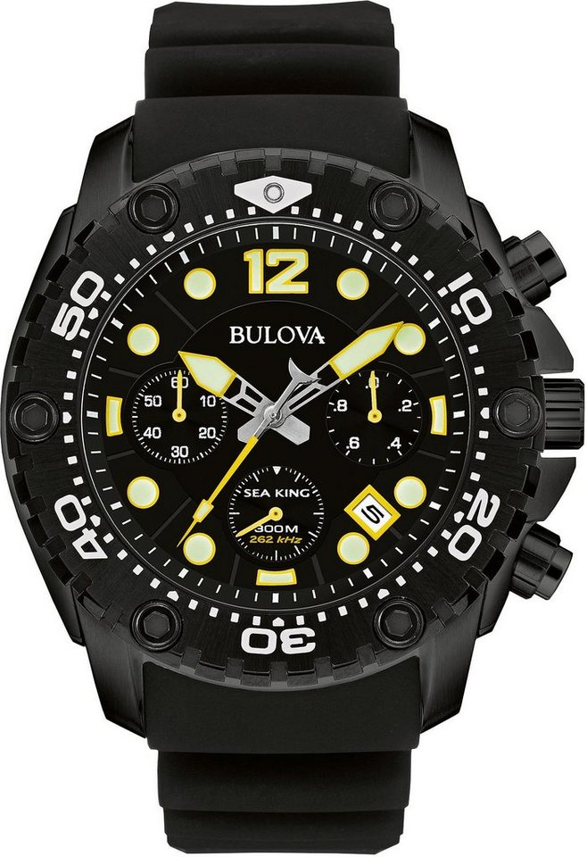 Bulova Chronograph »Sea King, 98B243« in schwarz