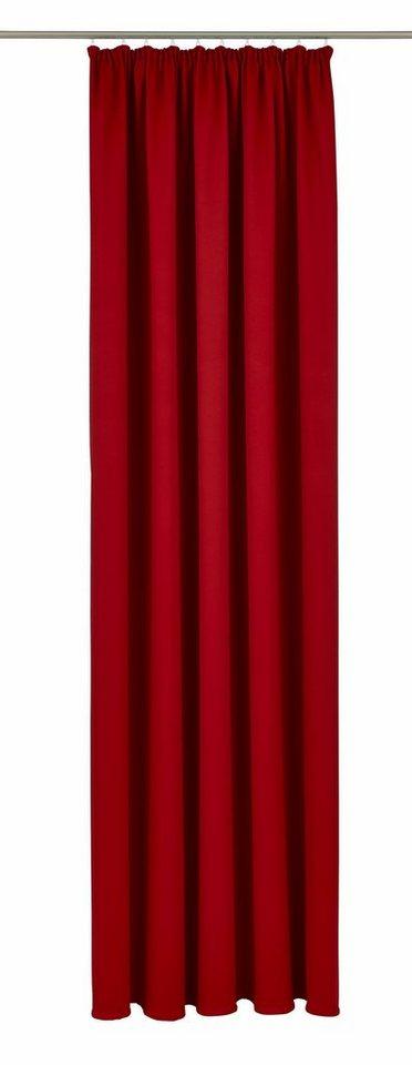 Vorhang, Vhg, »Leon« (1 Stück) in rot