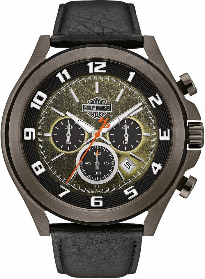 Harley Davidson Chronograph »Night Rider, 78B149« in schwarz