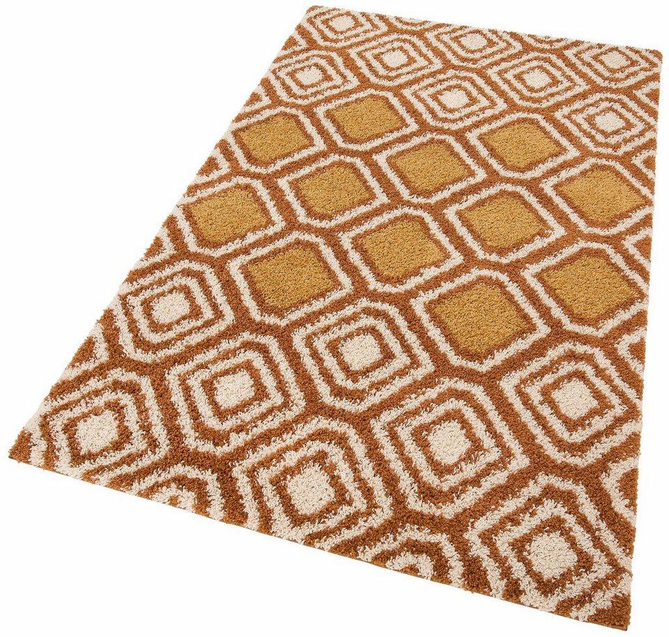 Hochflor-Teppich, my home, »Megan«, Höhe 30 mm, gewebt in bronze