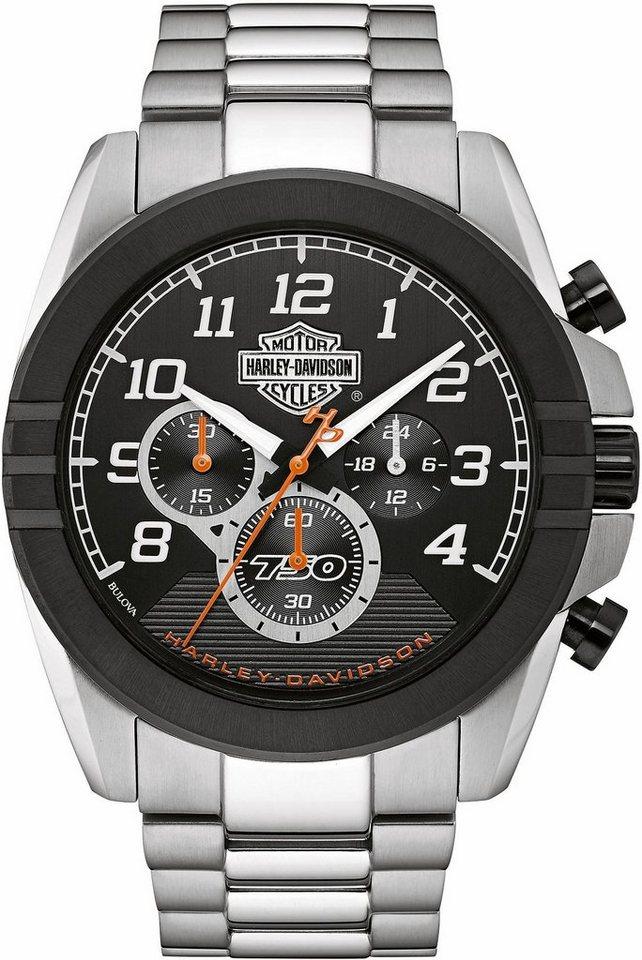 Harley Davidson Chronograph »Street, 76B175« in silberfarben