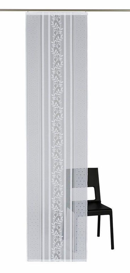 Schiebegardine, Vhg, »Flora-Gerade«, mit Klettband (1 Stück mit Zubehör) in weiß