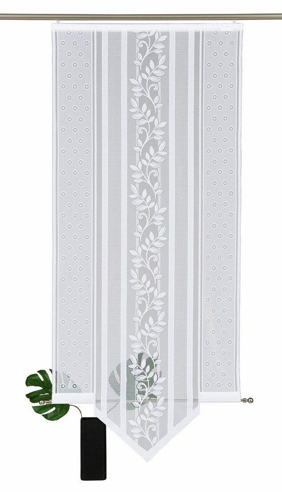 schiebegardine flora spitz vhg klettband 1 st ck inkl befestigungszubeh r online kaufen. Black Bedroom Furniture Sets. Home Design Ideas