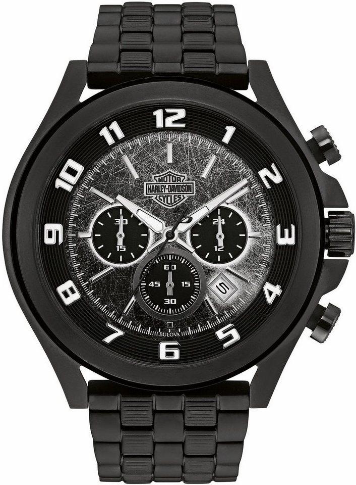 Harley Davidson Chronograph »Night Rider, 78B146« in schwarz