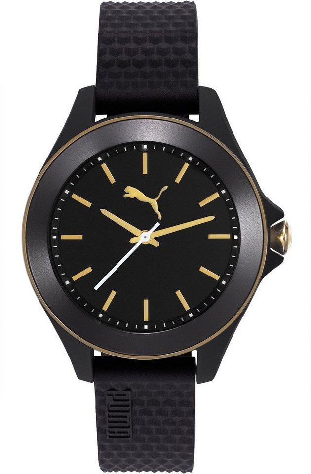 PUMA Quarzuhr »PU10406 Diamond - Black gold, PU104062007« in schwarz