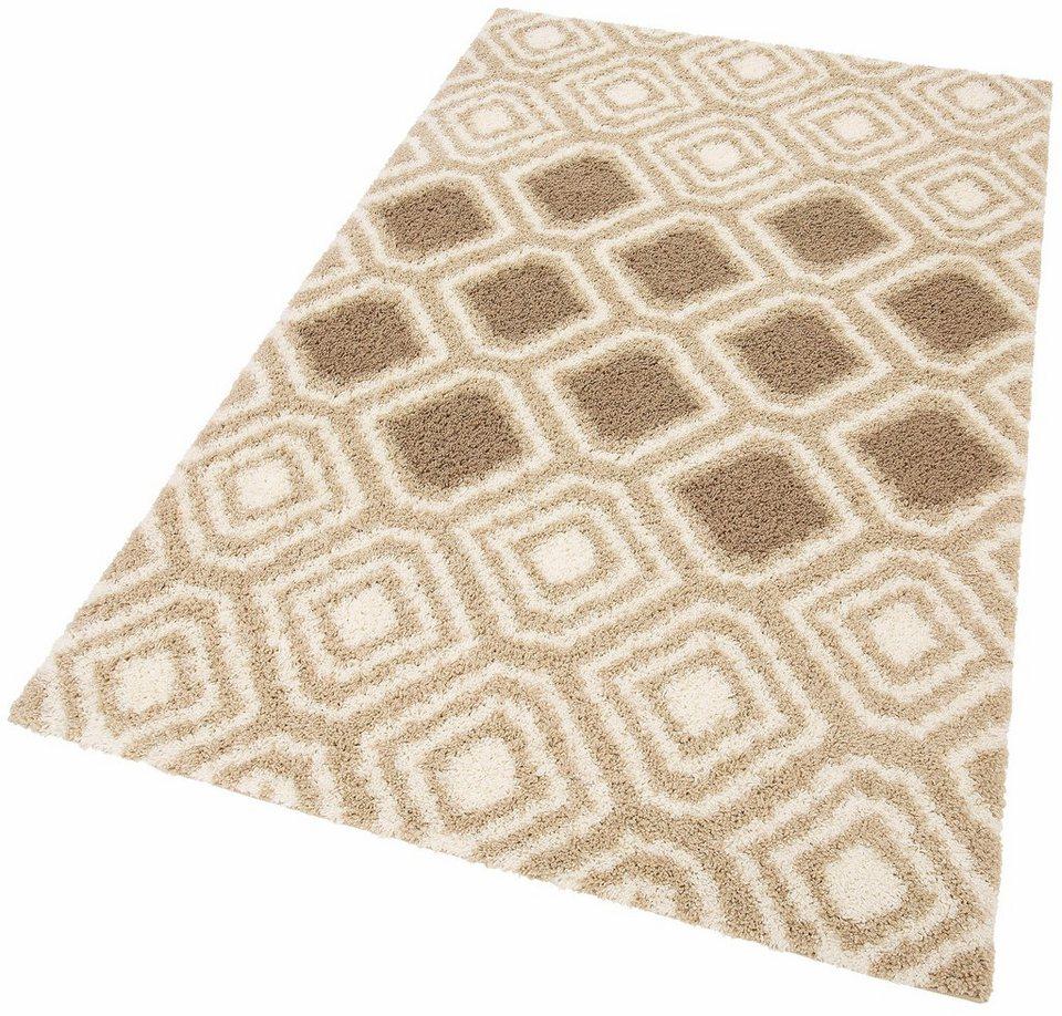 Hochflor-Teppich, my home, »Megan«, Höhe 30 mm, gewebt in beige
