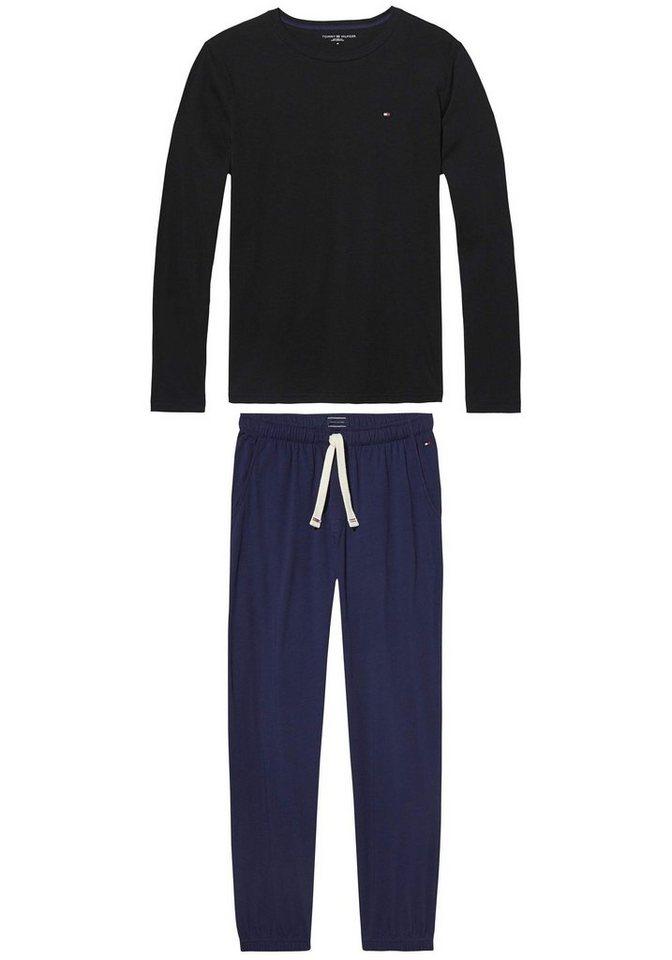Tommy Hilfiger warmer Pyjama in schwarz