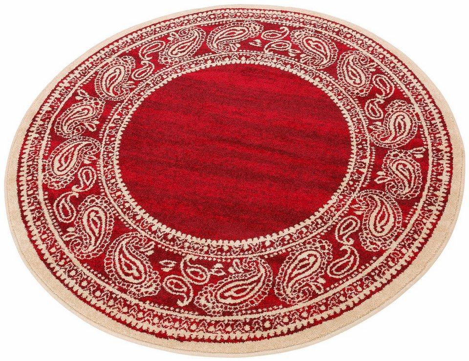 Teppich, rund, my home, »Maite«, Melange-Effekt, gewebt in rot