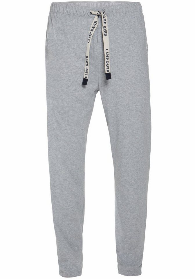 Camp David Long Pants in grau meliert