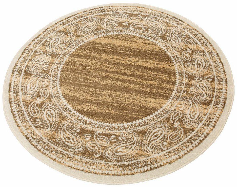 Teppich, rund, my home, »Maite«, Melange-Effekt, gewebt in braun