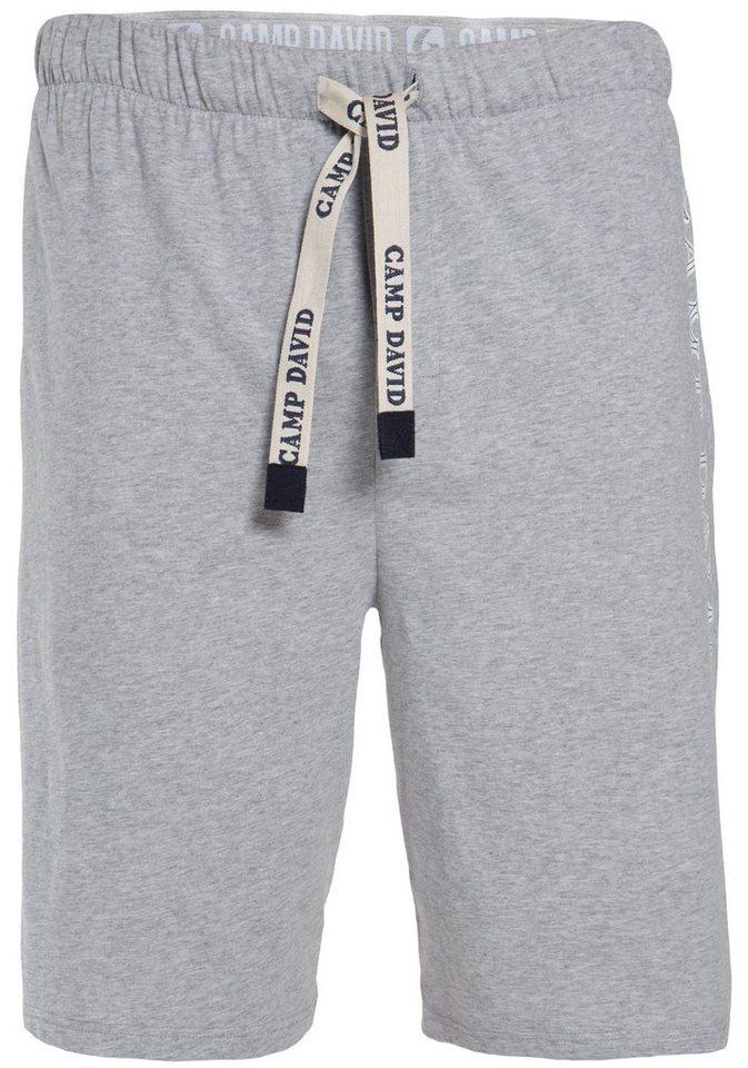 Camp David Shorts in grau meliert