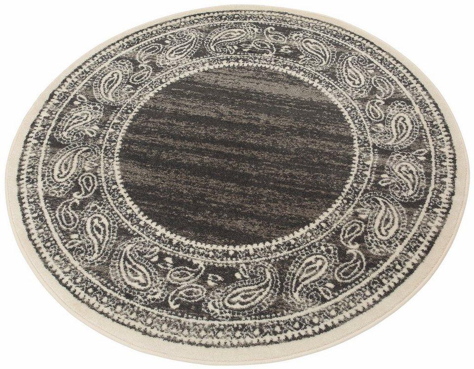 Teppich, rund, my home, »Maite«, Melange-Effekt, gewebt in grau