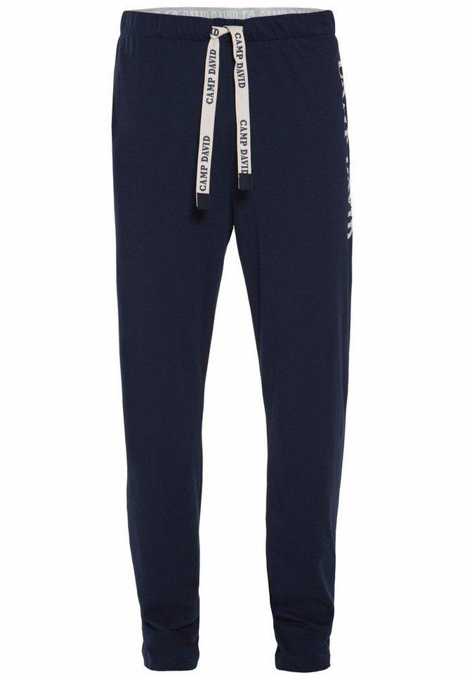 Camp David Long Pants in blau