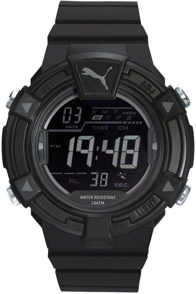 PUMA Chronograph »PU91138 Collide digital - Black grey, PU911381001« in schwarz