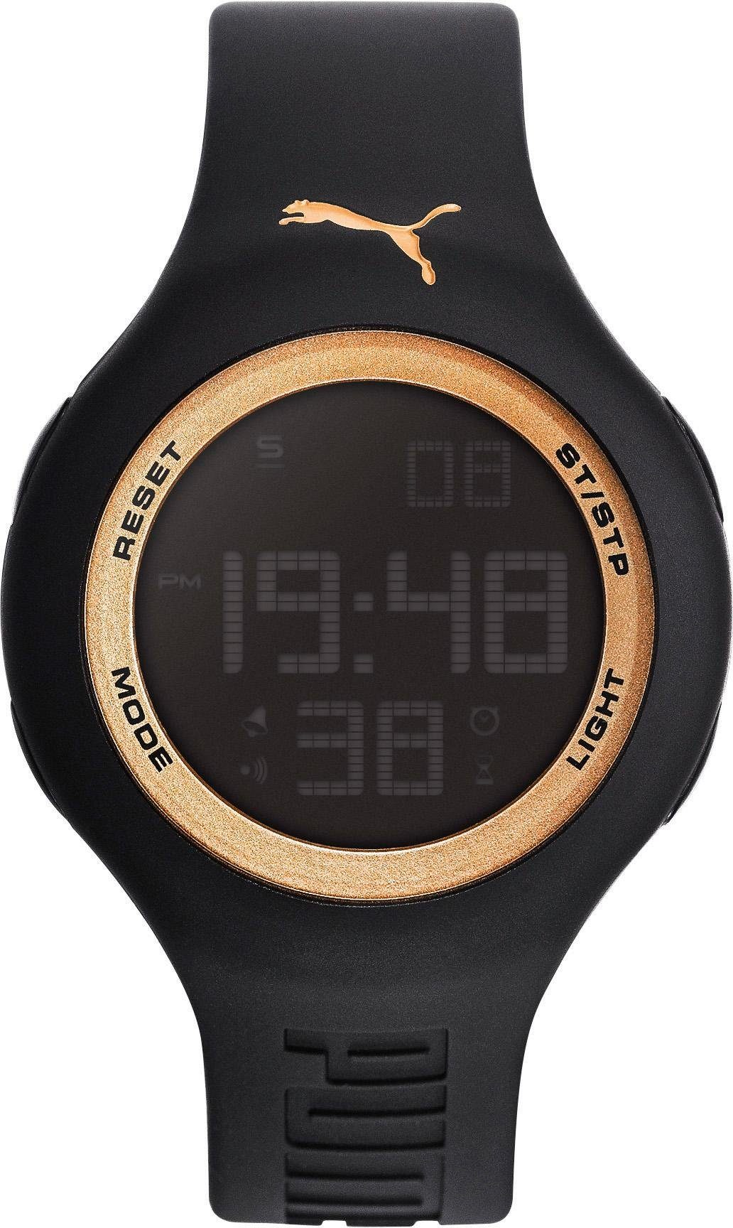 PUMA Chronograph »PU91080 PUMA Loop One 44 - Black gold, PU910801044«