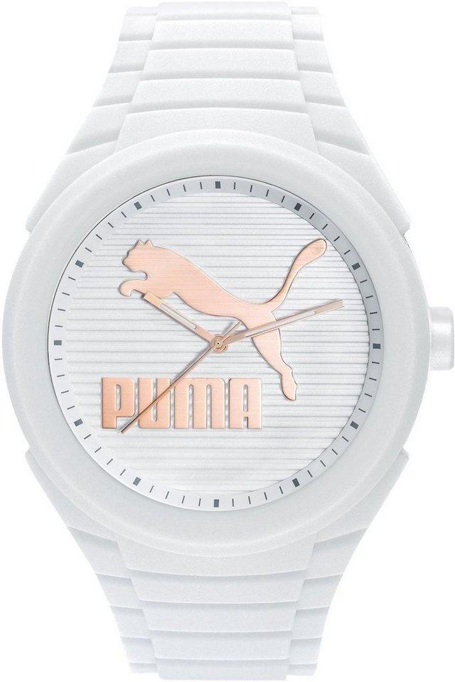 PUMA Quarzuhr »PU10359 Gummy Cat - White gold, PU103592017« in weiß