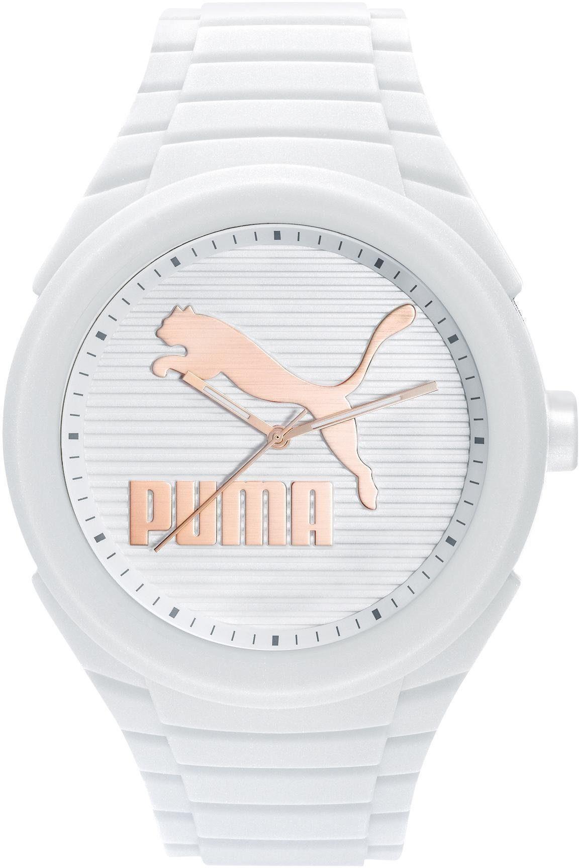 PUMA Quarzuhr »PU10359 Gummy Cat - White gold, PU103592017«