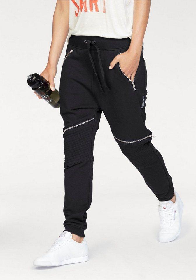 Reebok Jogginghose »Dance Knit Moto Pant« in schwarz