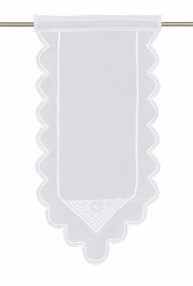 Scheibengardine, Hossner, »Wolfgangsee« (1 Stück) in weiß