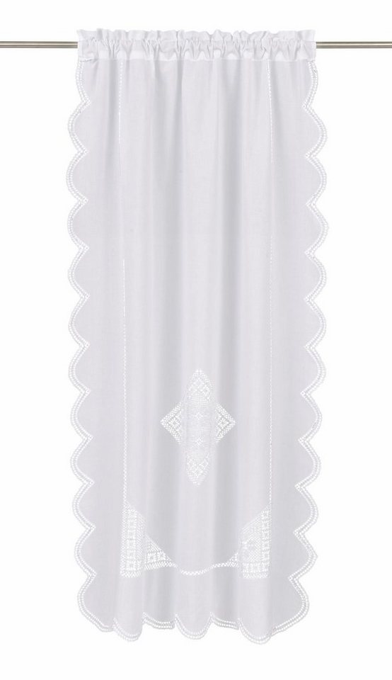Gardine, Hossner, »Wolfgangsee« (1 Stück) in weiß