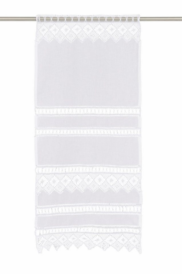 Scheibengardine, Hossner, »Spitzingsee« (1 Stück) in weiß