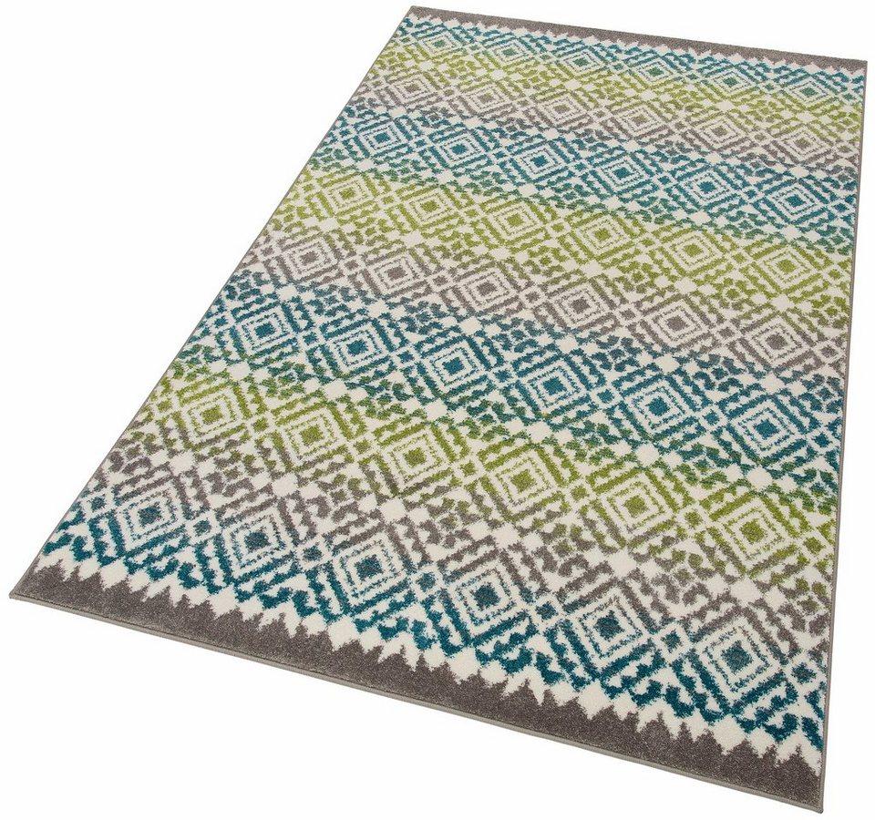 Teppich, my home, »Nina«, gewebt in blau