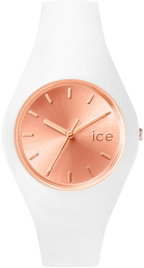 ice-watch Quarzuhr »ICE chic - White Rosé-Gold, ICE.CC.WRG.U.S.15« in weiß