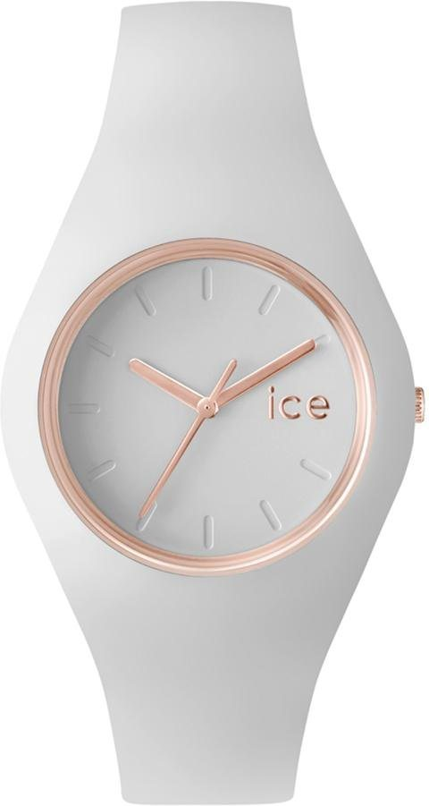 ice-watch Quarzuhr »ICE glam - Rosé Gold White, ICE.GL.WRG.U.S.14« in weiß