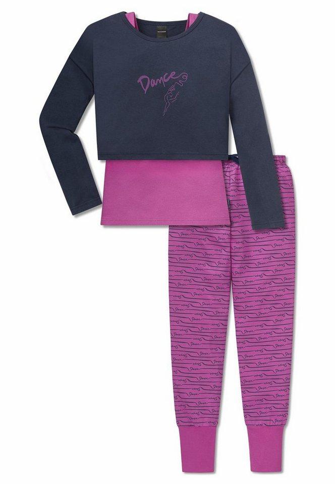 Schiesser Pyjama in dunkelblau