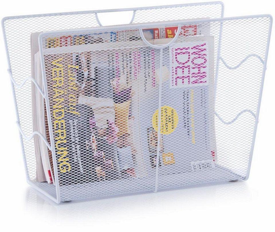 Home affaire Zeitungsständer in weiß