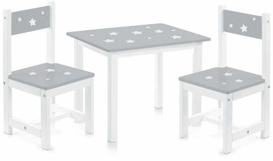 Home affaire Kinder-Sitzgarnitur »Sterne« (3-tlg.) in weiß