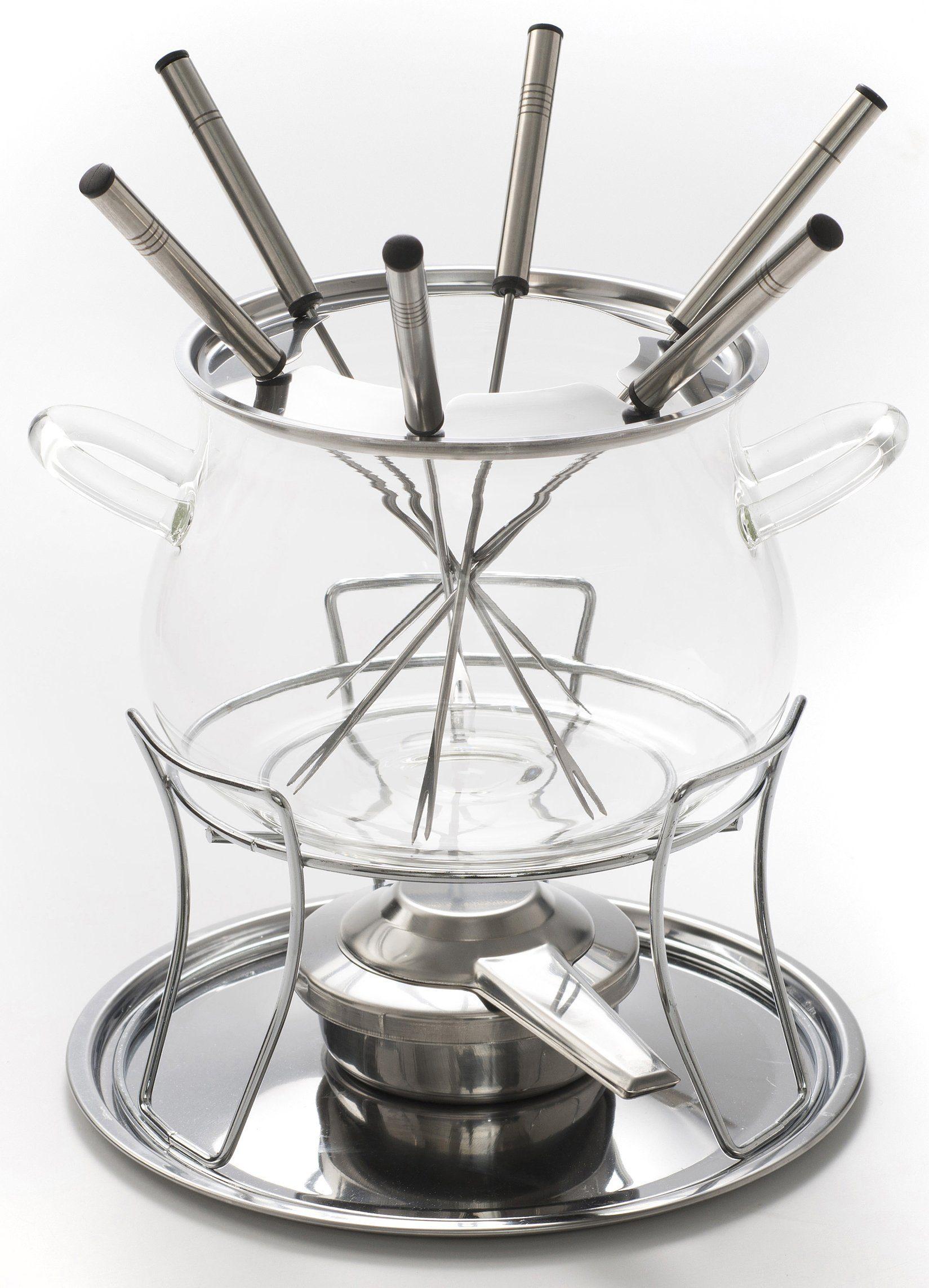 Style'n Cook Fondue-Set, 10-teilig, Borosilikat-Sicherheits-Glas, »SWISS FONDUE«
