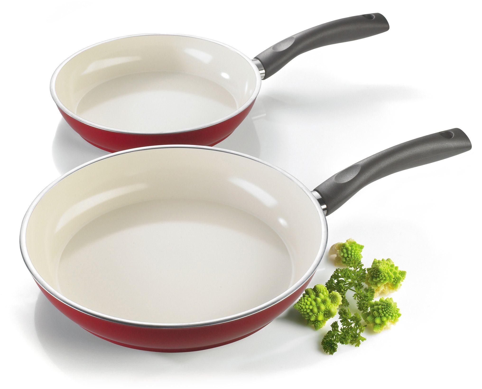 Style'n Cook Bratpfannen-Set, Aluminium, Induktion, »CERAMIC DUO GRANAT«
