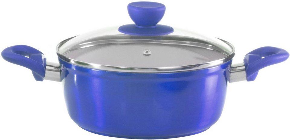 Style'n Cook Kochtopf, Aluminium, Induktion in blau/creme