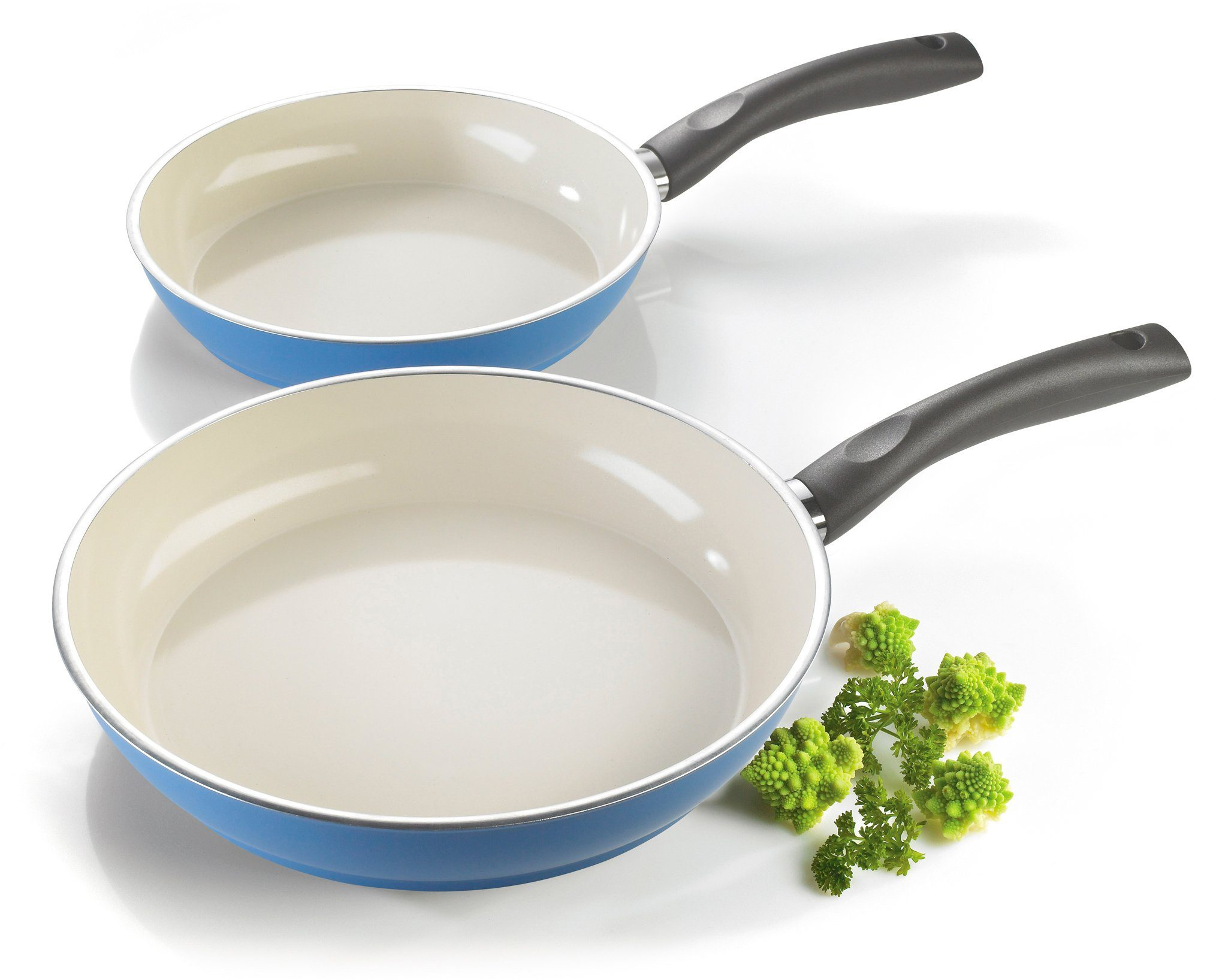 Style'n Cook Bratpfannen-Set, Aluminium, Induktion, »CERAMIC DUO CREAM«