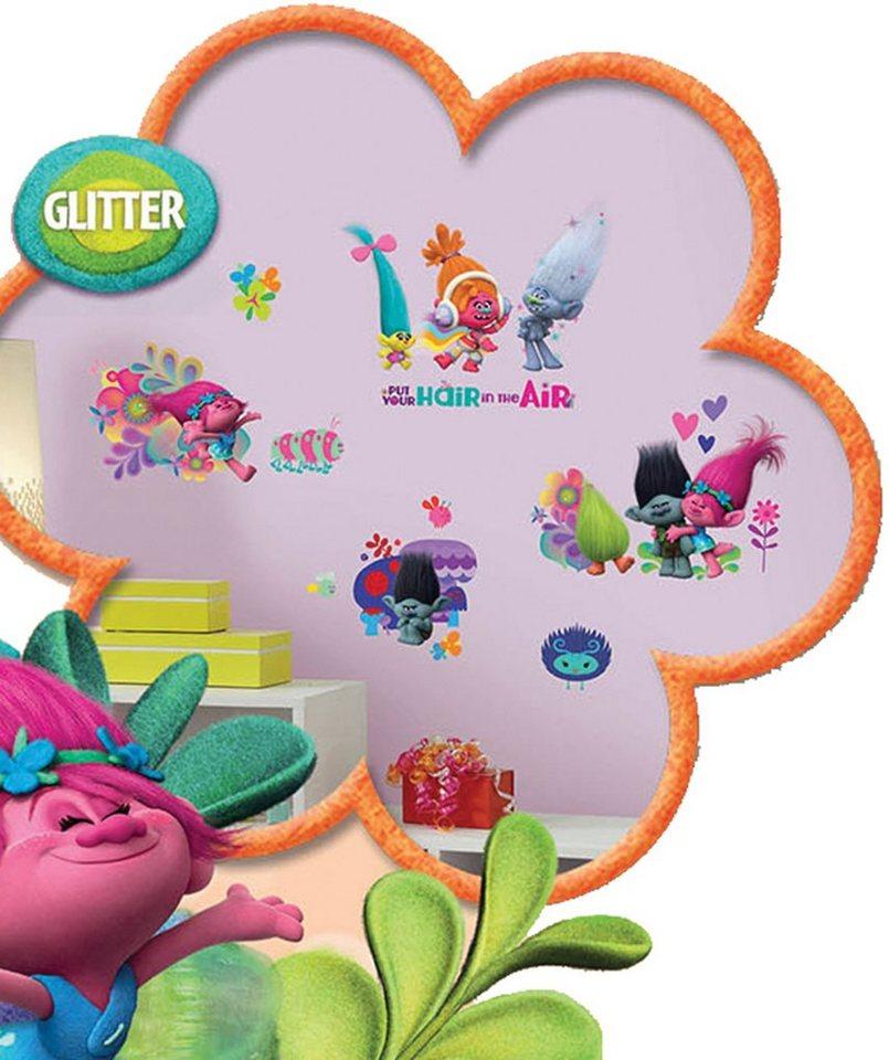JOY TOY Wandtattoo, »DreamWorks Trolls Wandsticker« in rosa