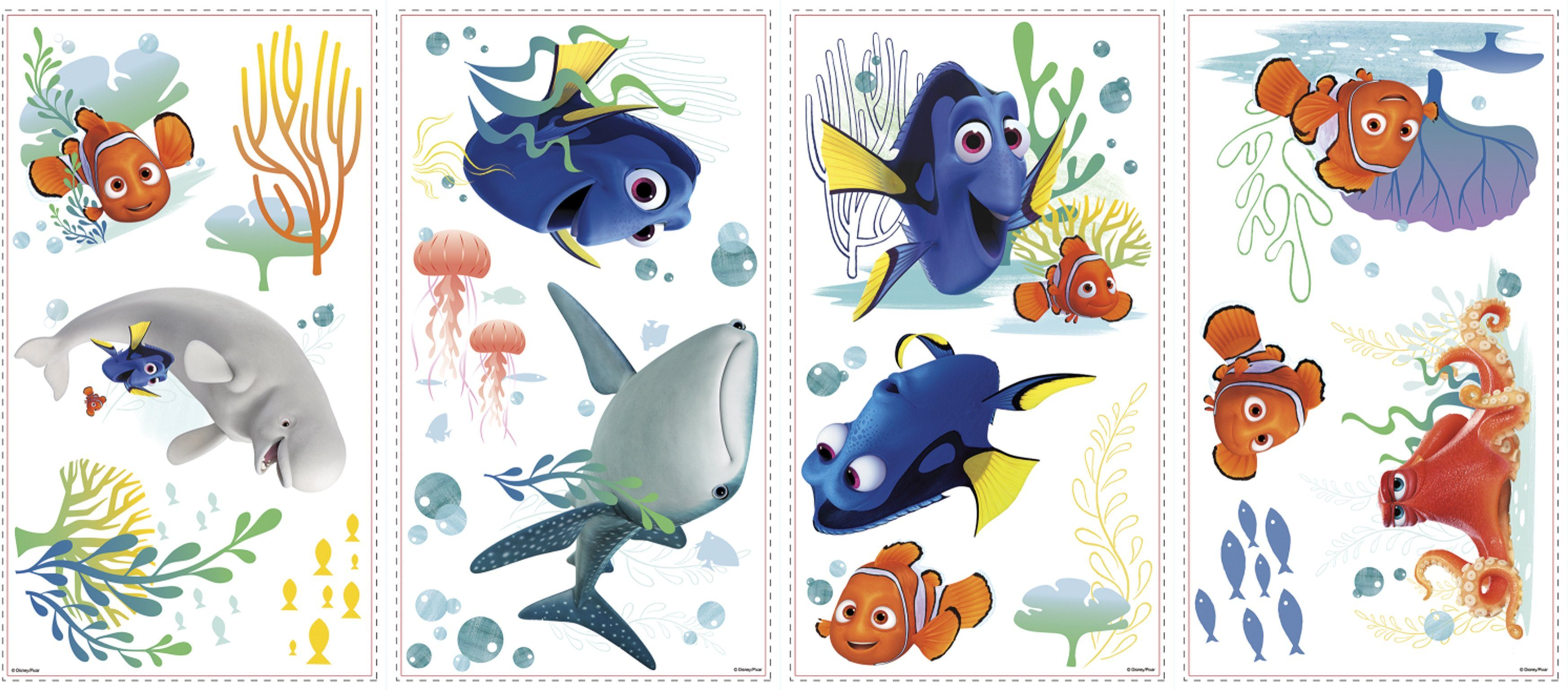 JOY TOY Wandtattoo, »Disney Pixar Findet Dorie Wandsticker«
