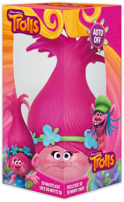 JOY TOY Schlummerlicht, »DreamWorks Trolls Poppy 3D Nachtlicht«