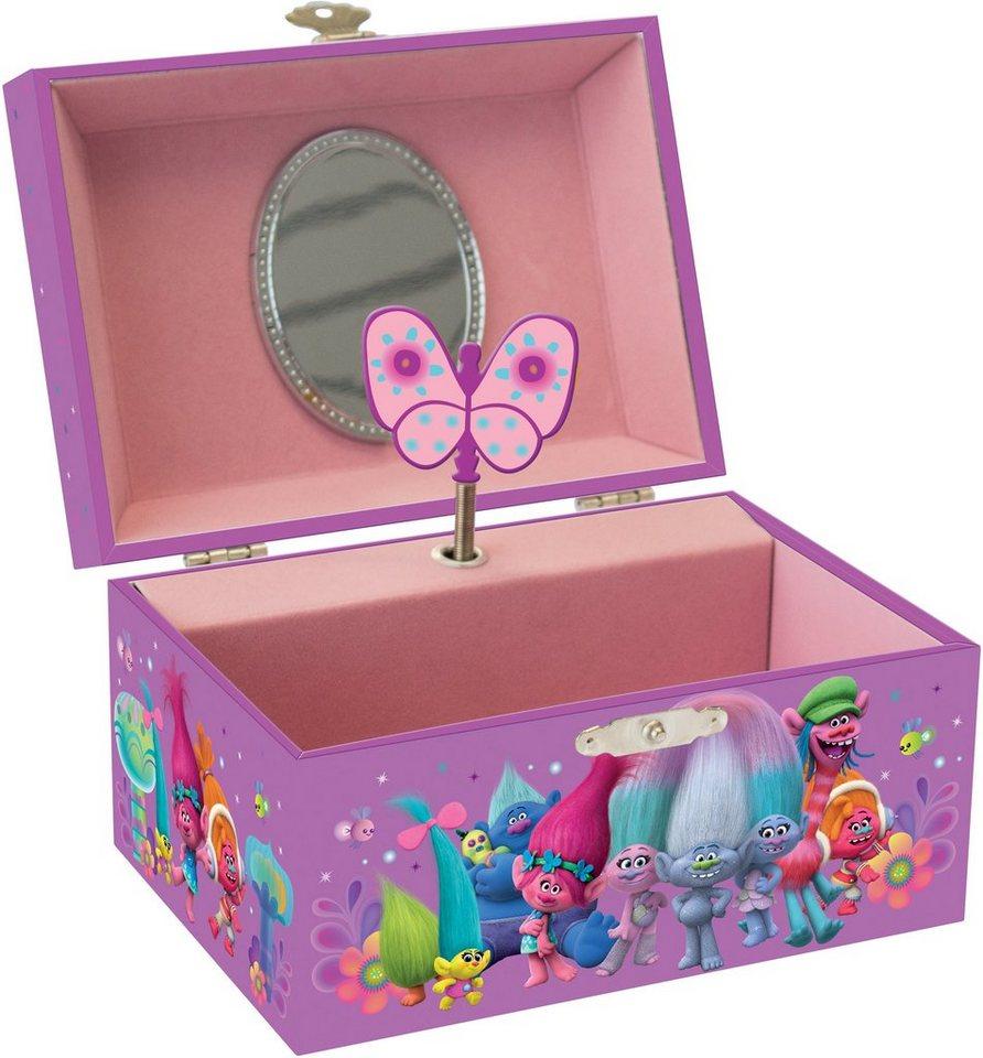 JOY TOY Schmuckkästchen, »DreamWorks Trolls Schmuckschattule mit Spieluhr« in rosa