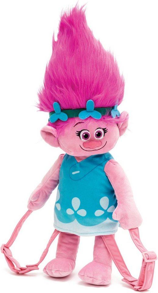 JOY TOY DreamWorks Trolls Poppy Plüschrucksack, 54 cm in rosa