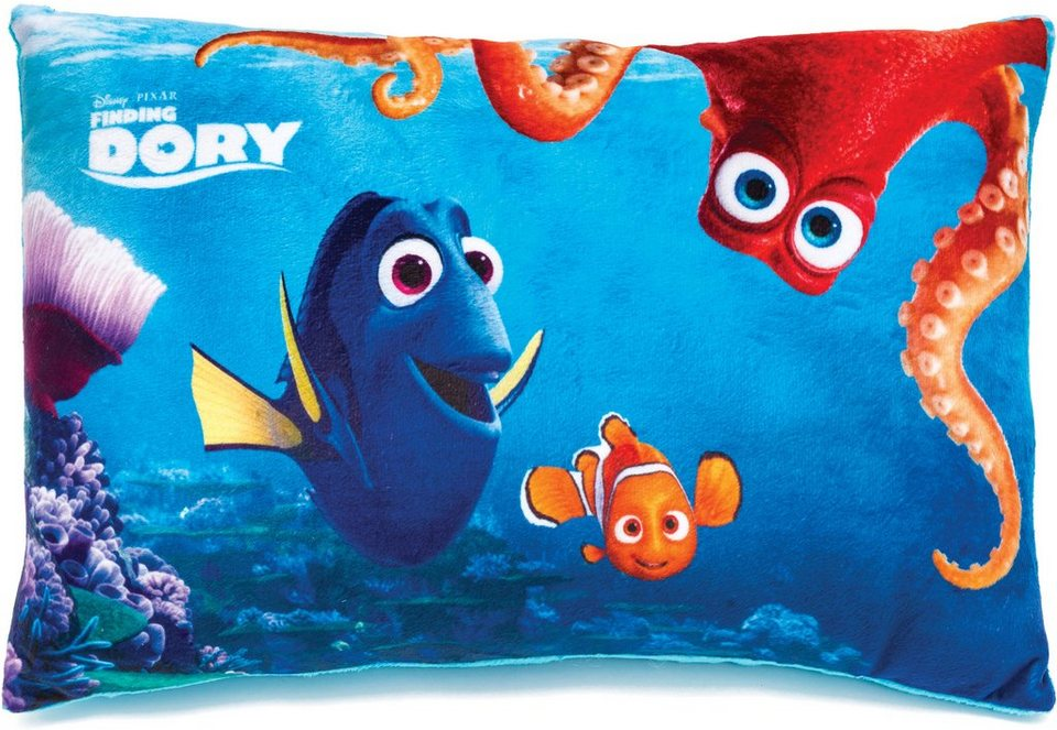 JOY TOY Schmusekissen, »Disney Pixar Findet Dorie Kuschelweiches Kissen in Rechteckform« in blau