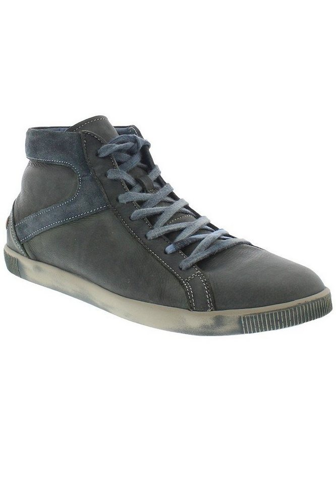 softinos Sneaker high »Taggart washed leather« in petrol/türkis