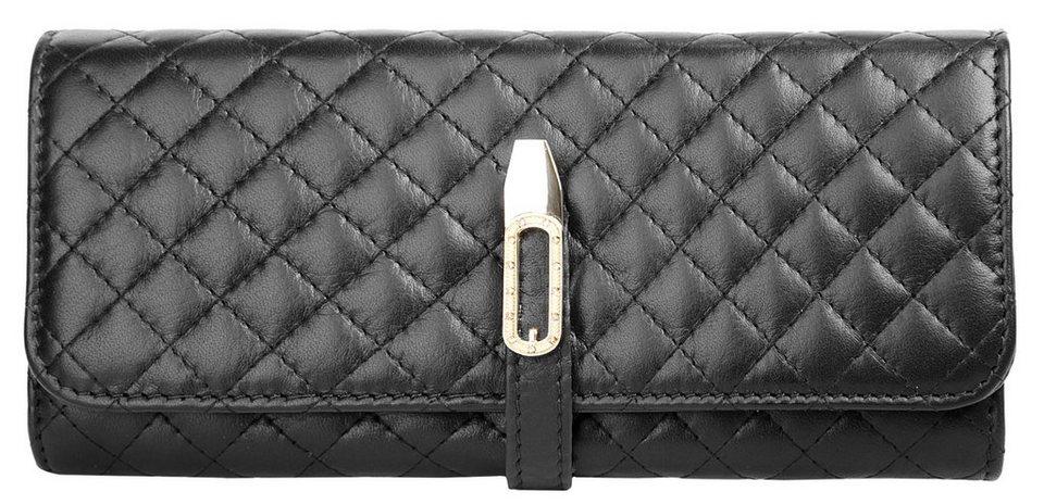 Cluty Damen Leder Geldbörse in schwarz