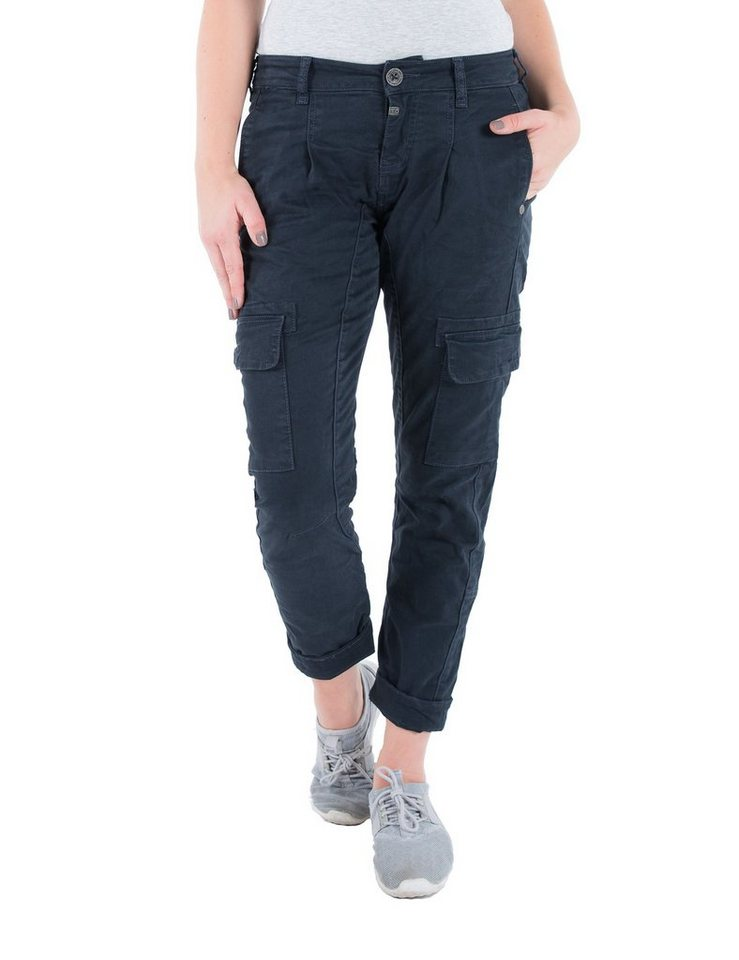TIMEZONE Hosen lang »New AlaniTZ 3D cargo pants« in dark navy