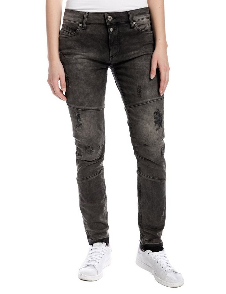 "TIMEZONE Jeans »AneelaTZ ""3345 trouble wash""« in trouble wash"