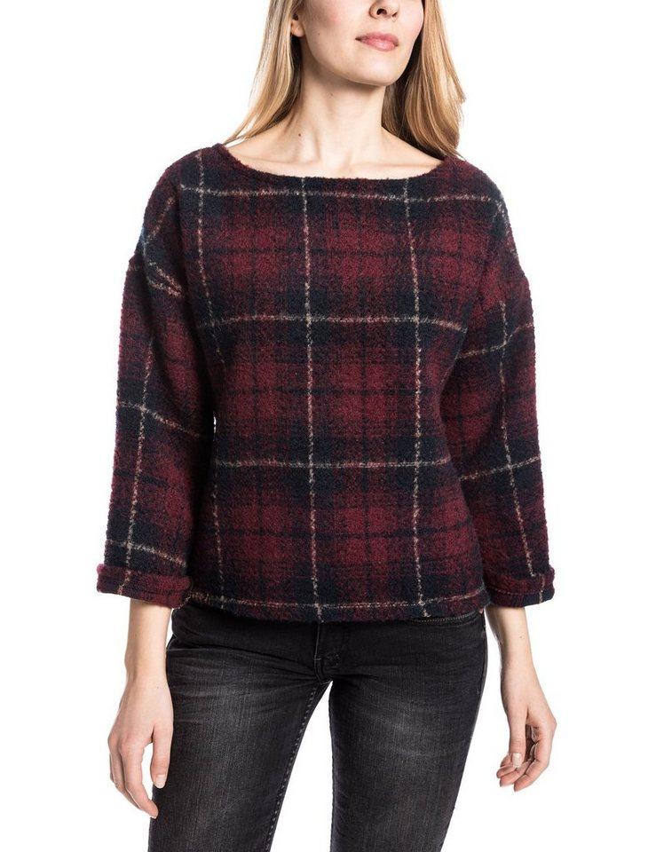 TIMEZONE Pullover »LailaTZ« in claret red check