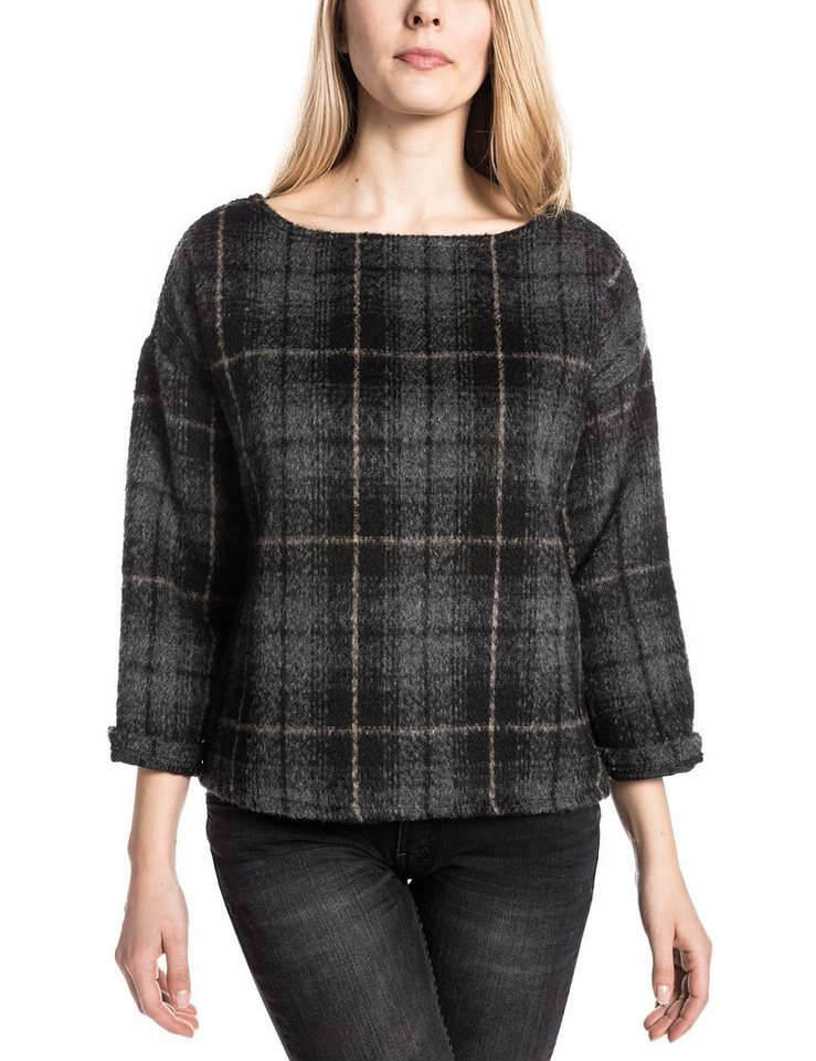 TIMEZONE Pullover »LailaTZ« in black check