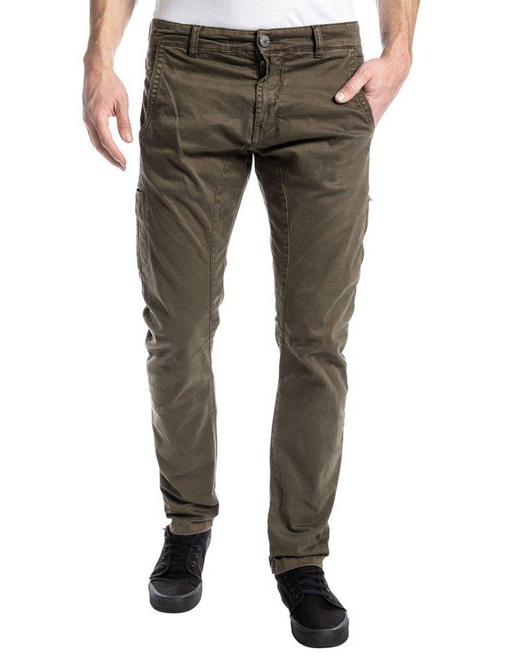 TIMEZONE Hosen lang »AxelTZ 3D traveller pants« in jungle green