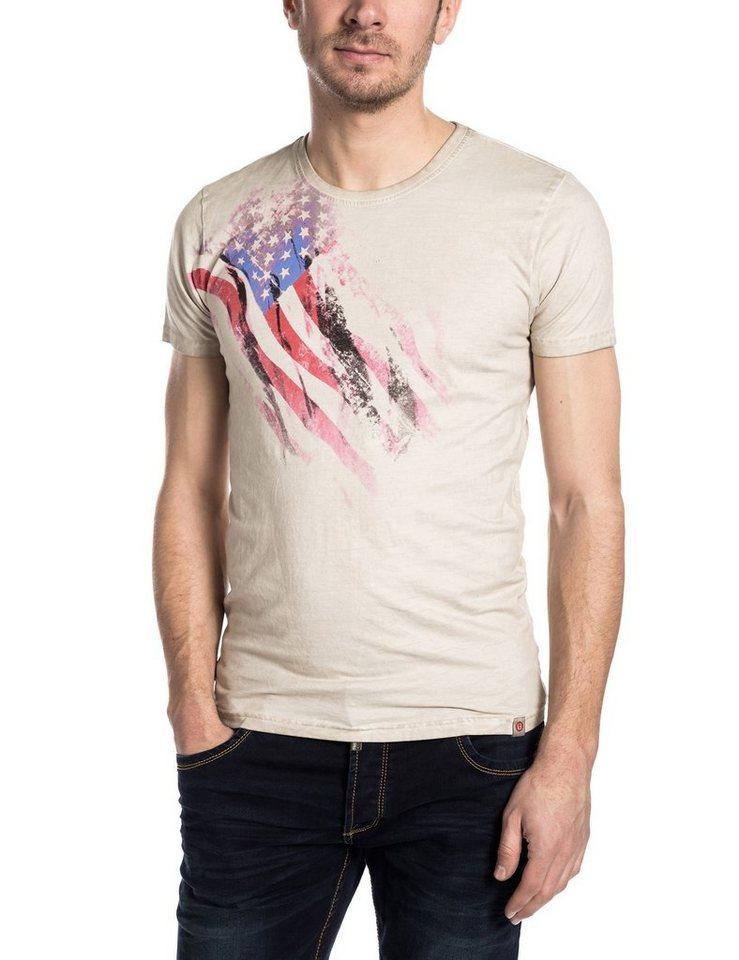 TIMEZONE T-Shirts (kurzarm) »TheStandardTZ« in silver cream melange